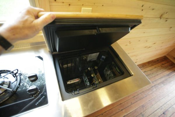 tiny house fridge. Sunken Chest (in Counter) Refrigerator Tumbleweed Walden SIP Tiny House (Structural Insulated Panels Fridge