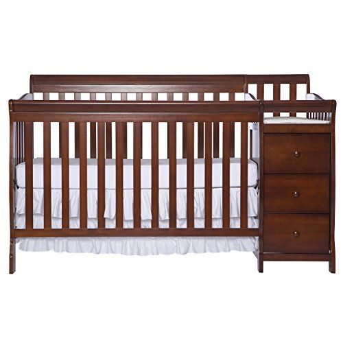 Dream On Me 5 In 1 Brody Convertible Crib With Changer Espresso Cribs Convertible Crib Best Baby Cribs