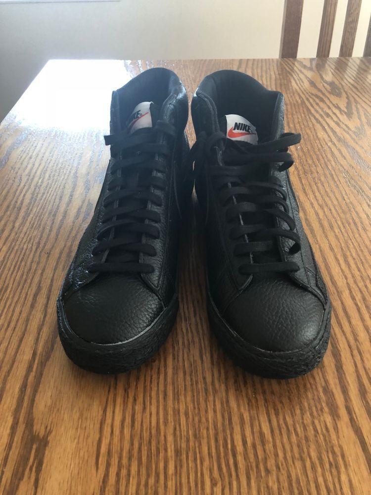 finest selection 05598 de0d5 NIKE Blazer Mid Premium PRM Mens (Size 9) Black  Gum 429988 007