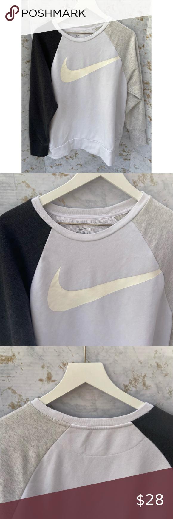 Nike Dri Fit Tri Color Crewneck Nike Crewneck Sweatshirt Like New Condition Size Medium Gray Black And Nike Crewneck Sweatshirt Clothes Design Nike Dri Fit [ 1740 x 580 Pixel ]