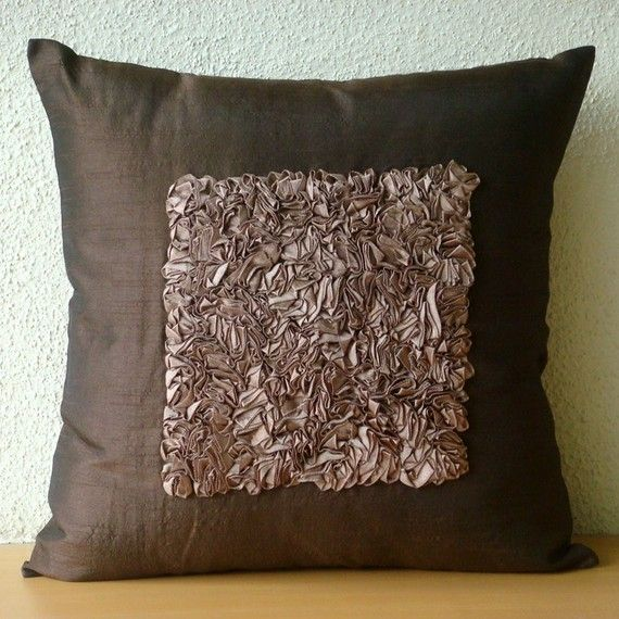 Vintage Chocolate Love Pillow Sham Covers 24x24 Inches Silk