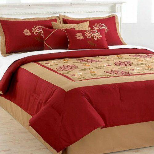 Hallmart Collectibles Adelacia King 7 Piece Comforter Set ** AMAZON Great Sale