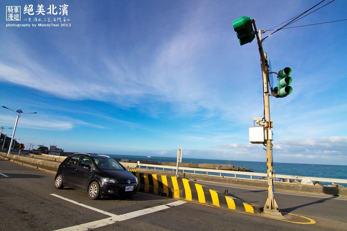 天氣好,有太陽卻不悶熱,風大涼爽... 騎著車在這樣美麗的公路上,完全享受!!! - 攝於石門