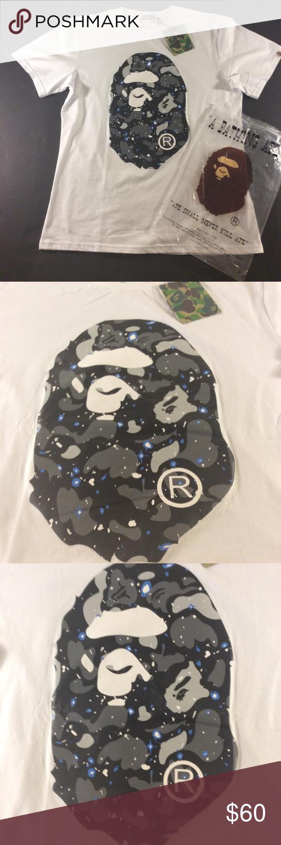746320834 A bathing ape big galaxy ape t shirt Comes with dust bag big head ape .  Includes original dust bag bape Shirts Tees - Short Sleeve