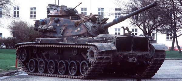 M60A1 main battle tank in an experimental NATO camouflage