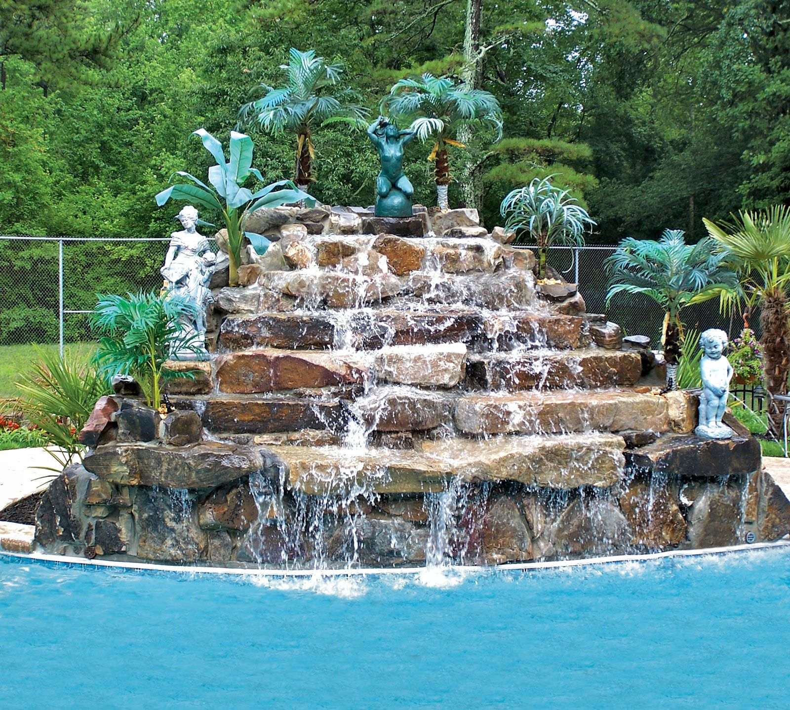 Swimming Pool Rock Waterfall Pictures