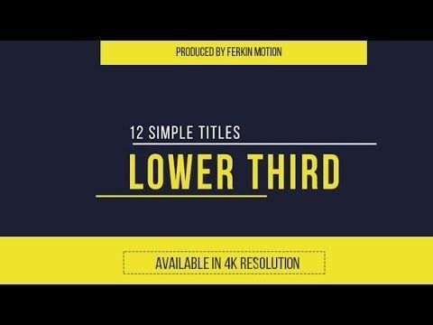 Adobe After Effects 33 Clean Lower Third Free Template Youtube