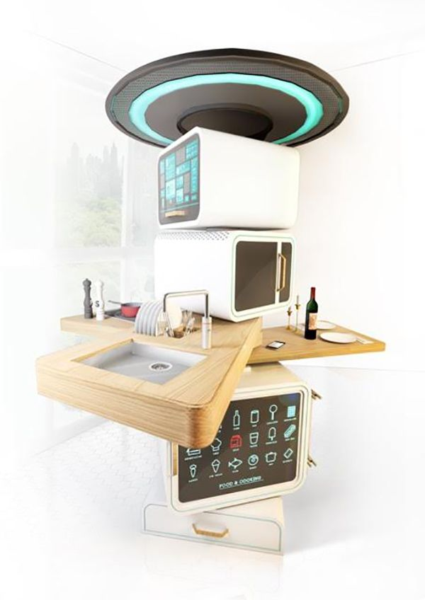 Full Circle Compact All In One Kitchen Station Design