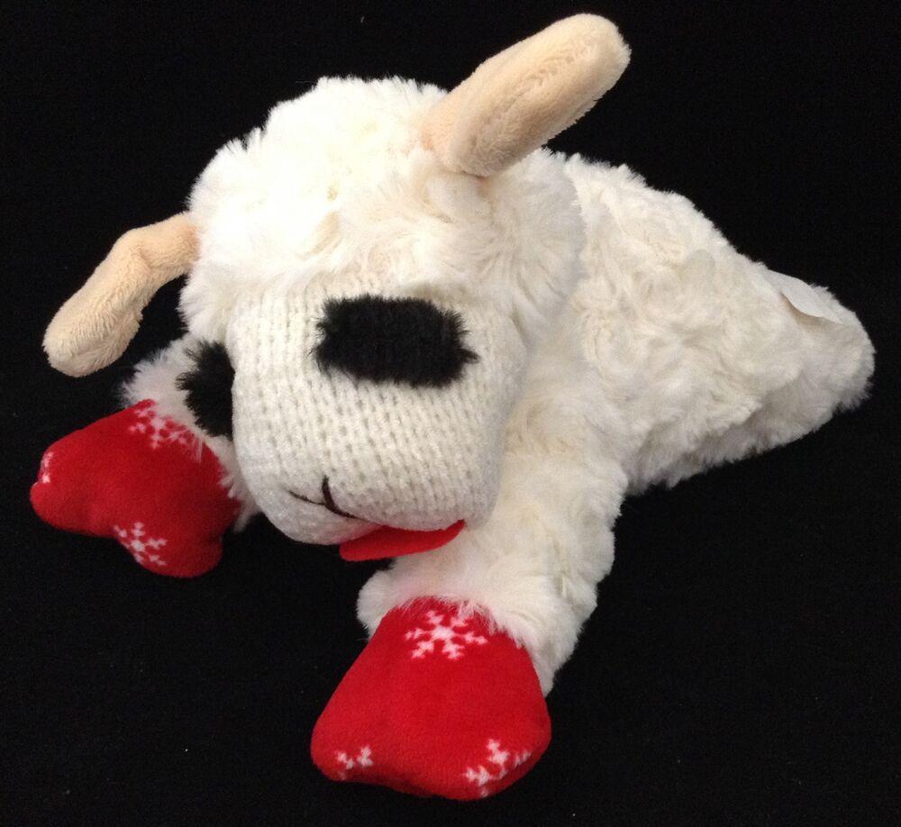 Lamb Chop Soft Plush Toy Squeaker 10 Stuffed Animal Dog Toy
