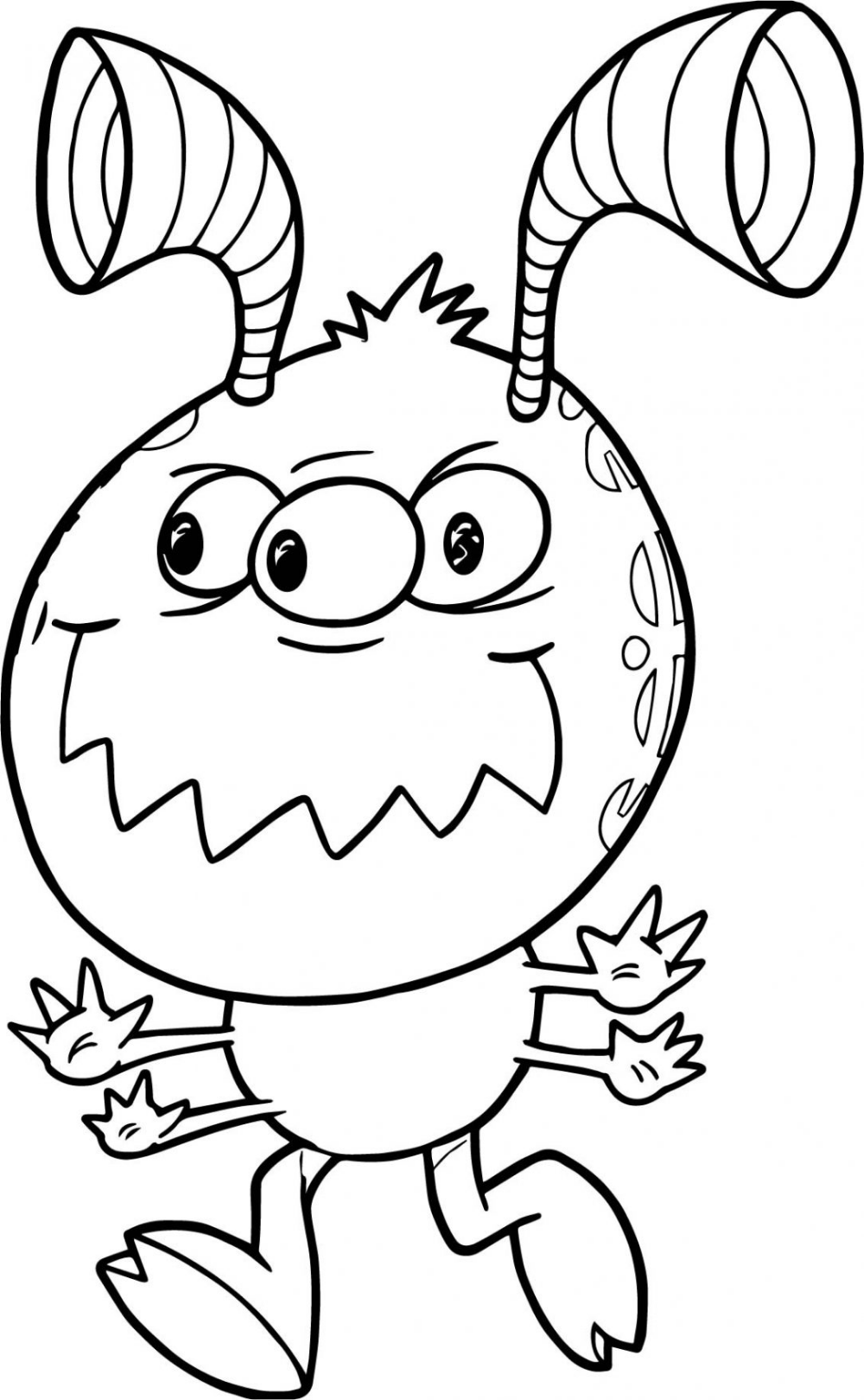 alien coloring pages - Google Search | Monster coloring ...