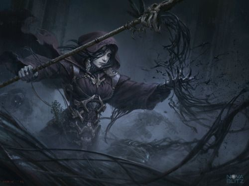Necromancer, art by Bogdan Marica