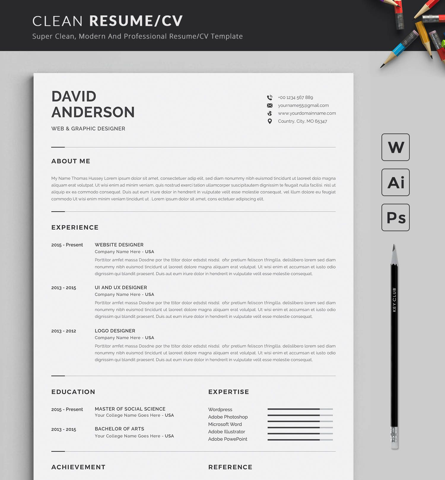 Resume Template Modern & Professional Resume Template