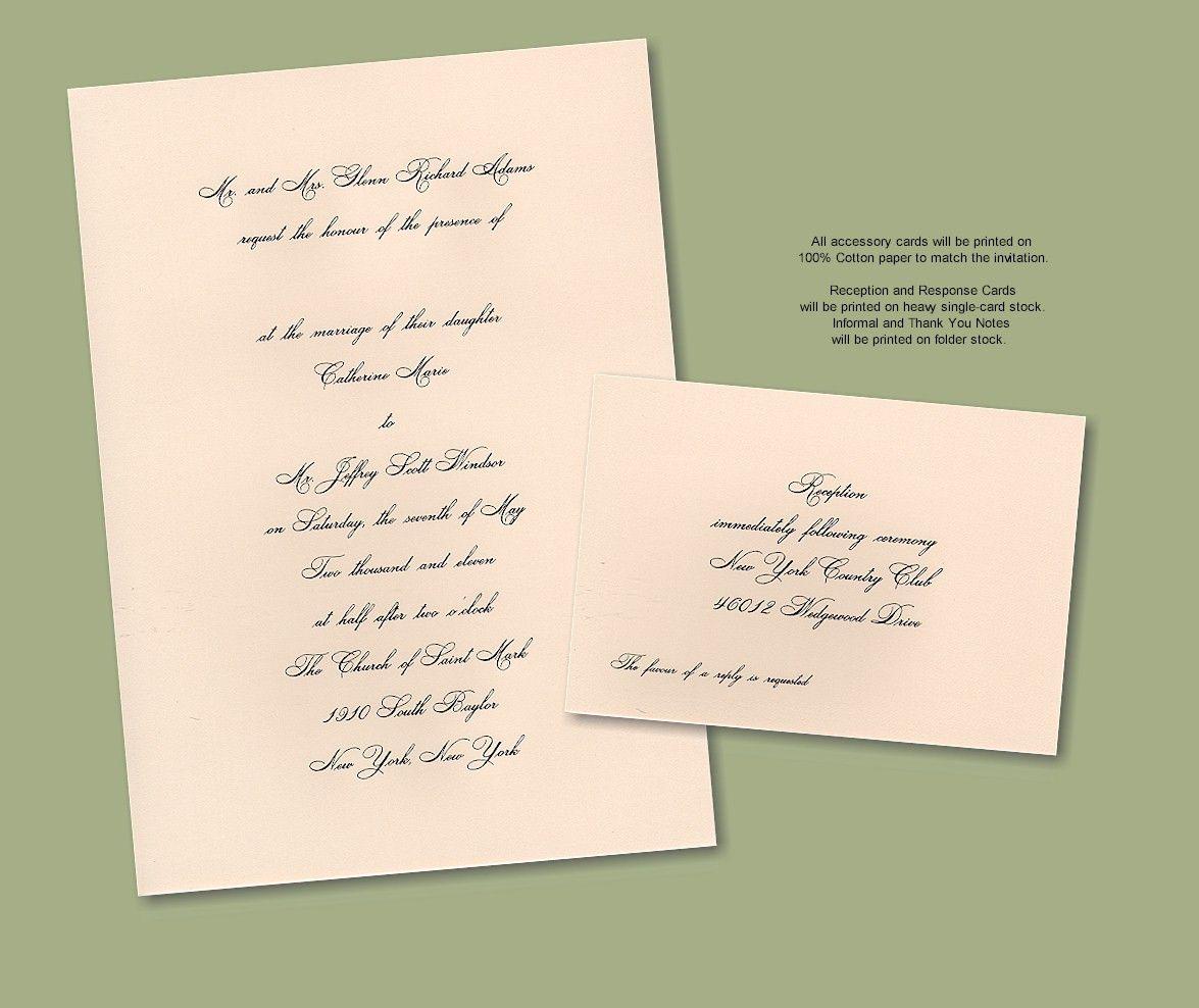 100% Cotton Single-Card Engraved Wedding Invitation | Twenty14 ...