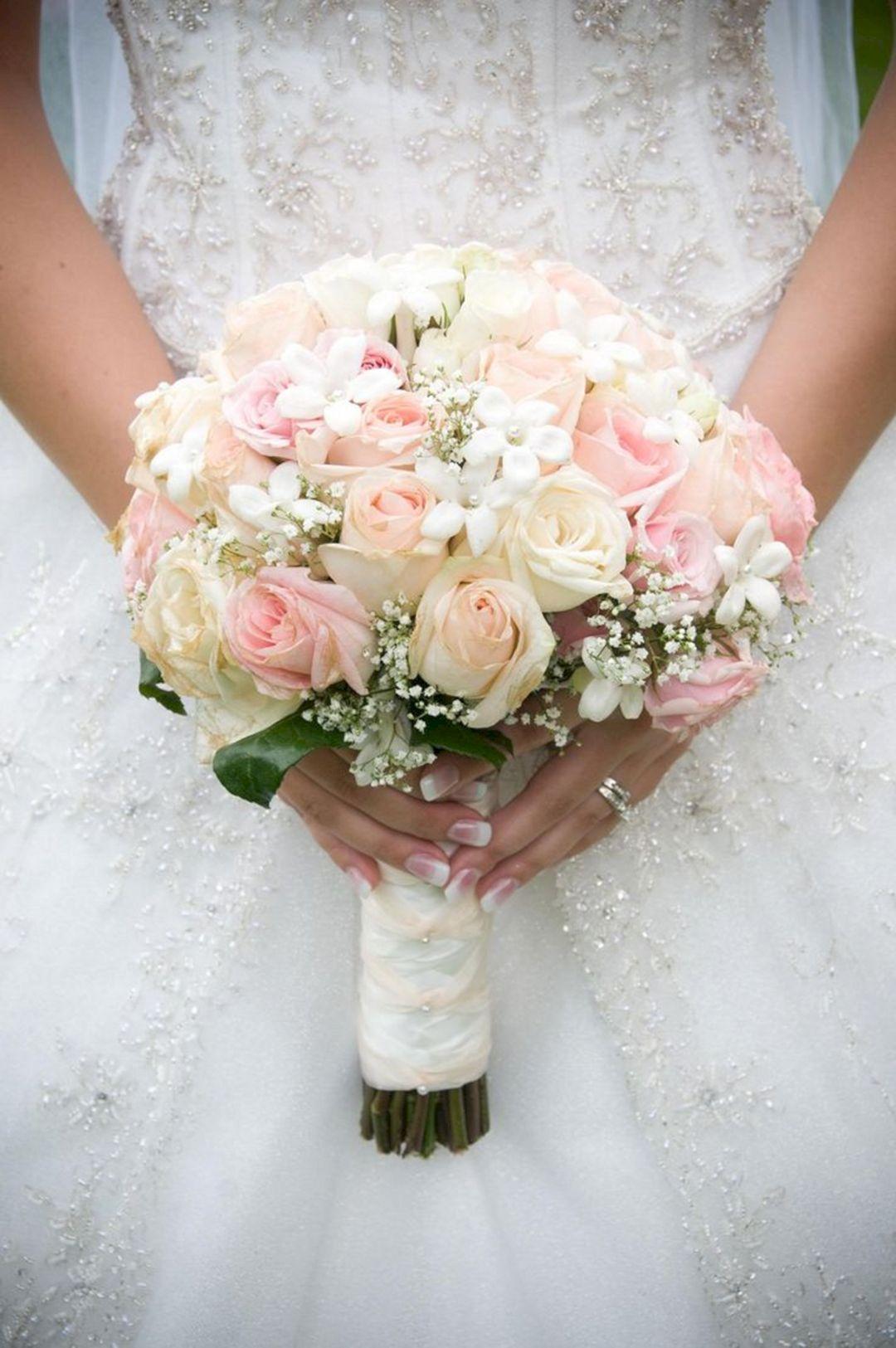 Great 10 Beautiful White Wedding Bouquet Ideas For Wedding Inspiration Https Oo Wedding Bouquets Pink Wedding Flower Arrangements White Rose Bridal Bouquet