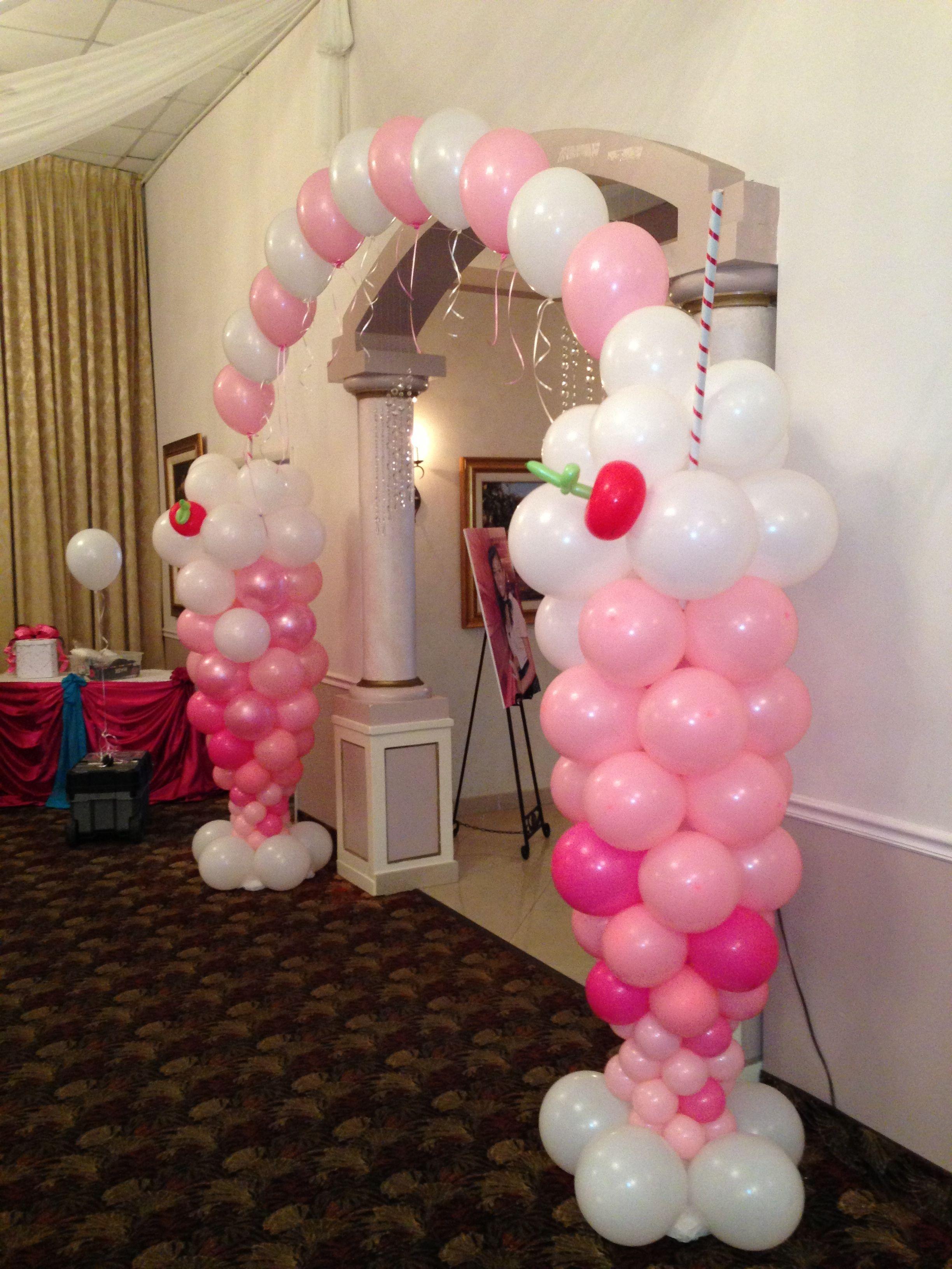 Ice cream balloon arch for entrance balloon decor pinterest ice cream balloons balloon