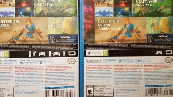 Zelda: Breath of the Wild - Wii U box has incorrect controller info fixed   Looks like Nintendo has taken the time to reprint the Breath of the Wild Wii U box which originally contained incorrect info on supported controllers. I'm honest surprised they even bothered!  from GoNintendo Video Games