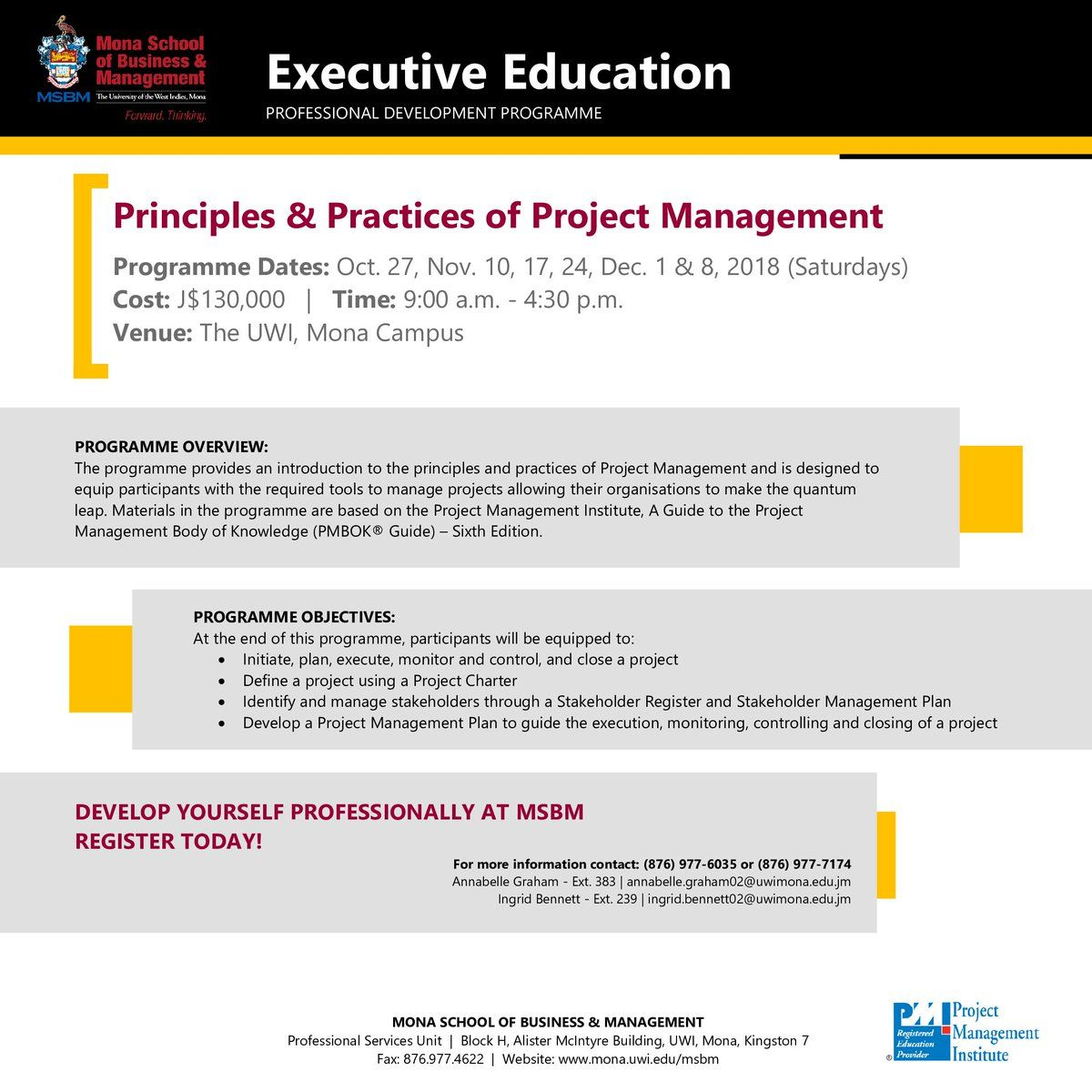 Develop Yourself Professionally at #MSBM! Enrol in our Exec