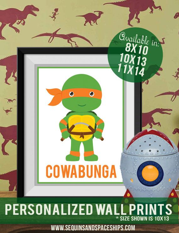 Teenaged Mutant Ninja Turtles TMNT bedroom by SequinsandSpaceships ...