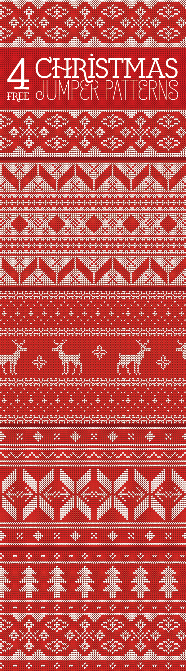 4 Free Seamless Knitted Christmas Jumper Patterns | Pinterest ...