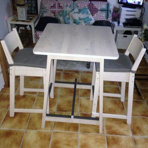 Table haute de cuisine avec tabouret ikea di 2020 dengan Table haute avec tabouret pour cuisine