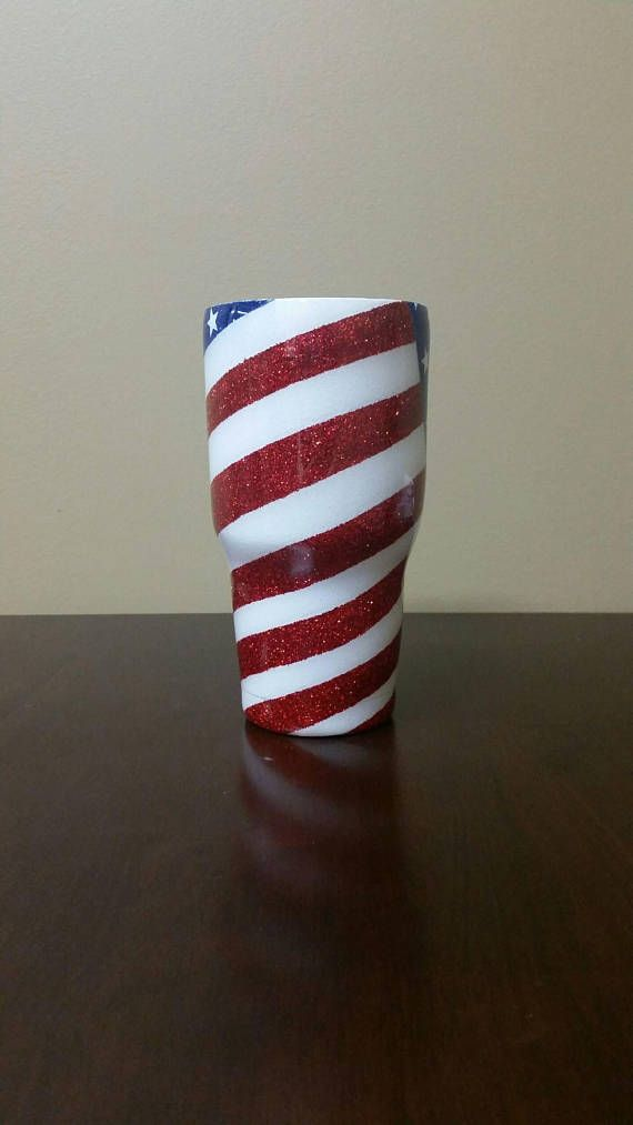 af6b65bbb4ff American Flag Glitter Tumbler   Red White and Blue   4th of