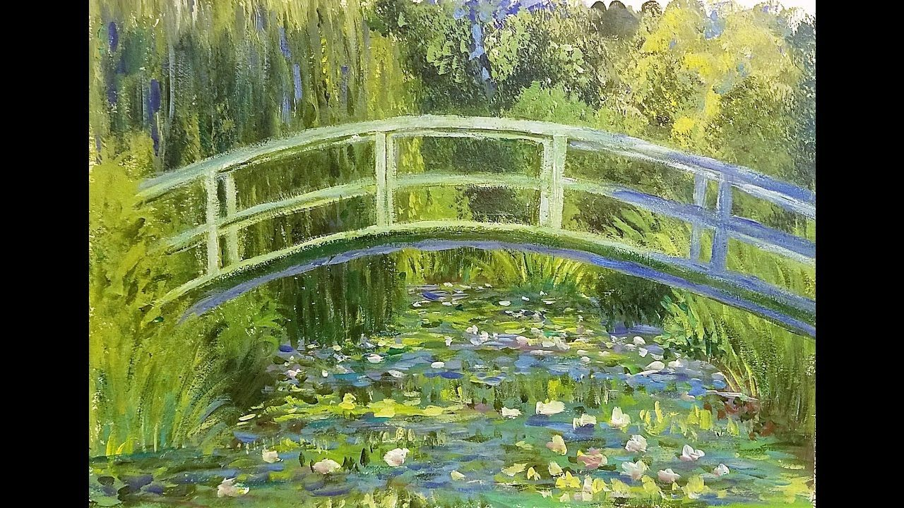 Learn To Paint A Monet Inspired Masterpiece Bridge Over A Pond Of