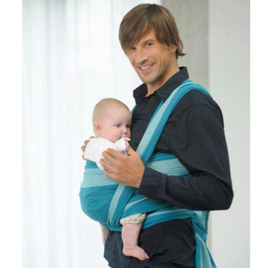AMAZONAS Baby Draagdoek Carry Sling CARRAGEEN 450cm   I  3 turquoise ... f2c7c5d2a21