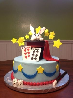 Magic Hat Birthday Cake