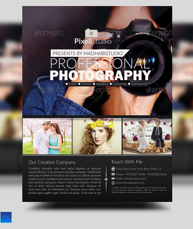Professional Photography Flyer  Photography Flyer Flyer Design