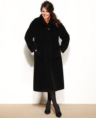 66d0d03a6b6 Jones New York Plus Size Wool-Alpaca-Blend Maxi Walker Coat - WEB BUSTERS - Plus  Sizes - Macy s