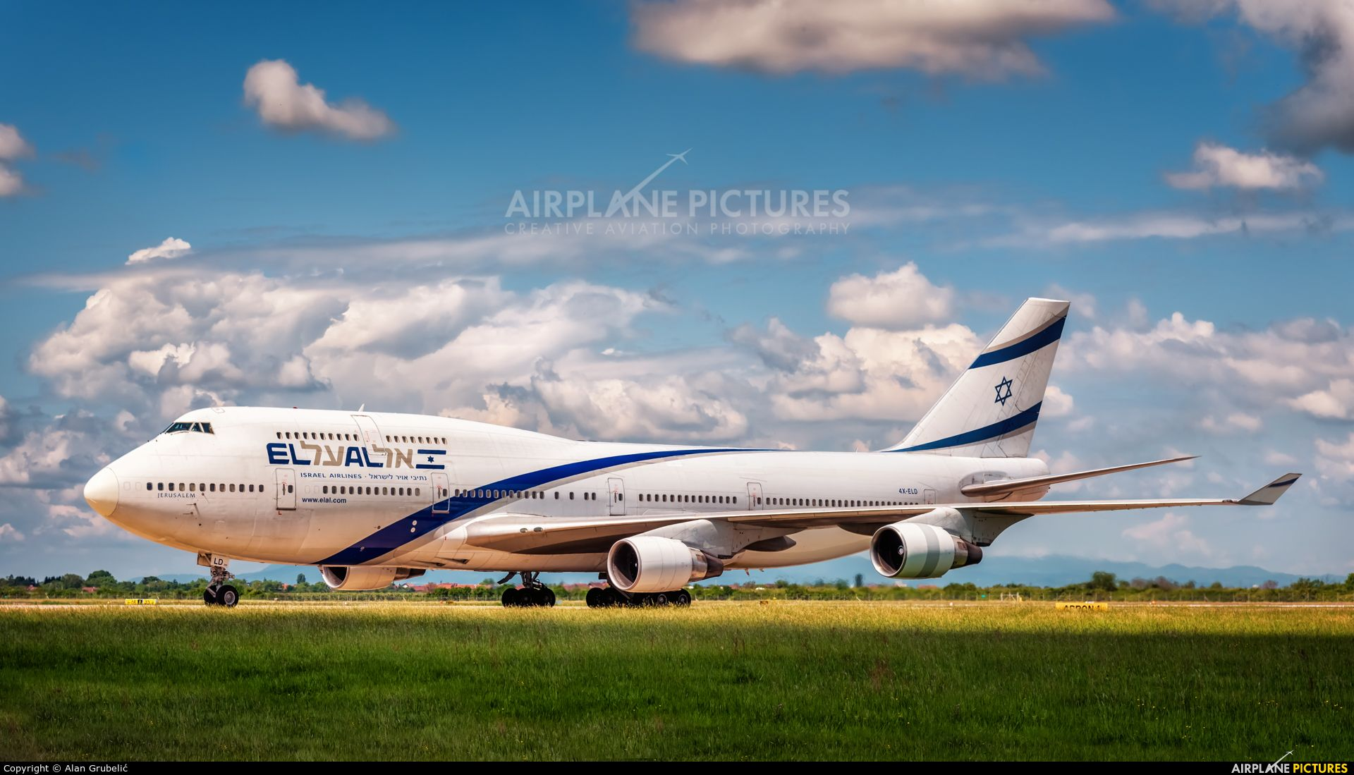 El Al Israel Airlines 4x Eld Aircraft At Zagreb Photo Boeing 747 400 Boeing 747 Airlines
