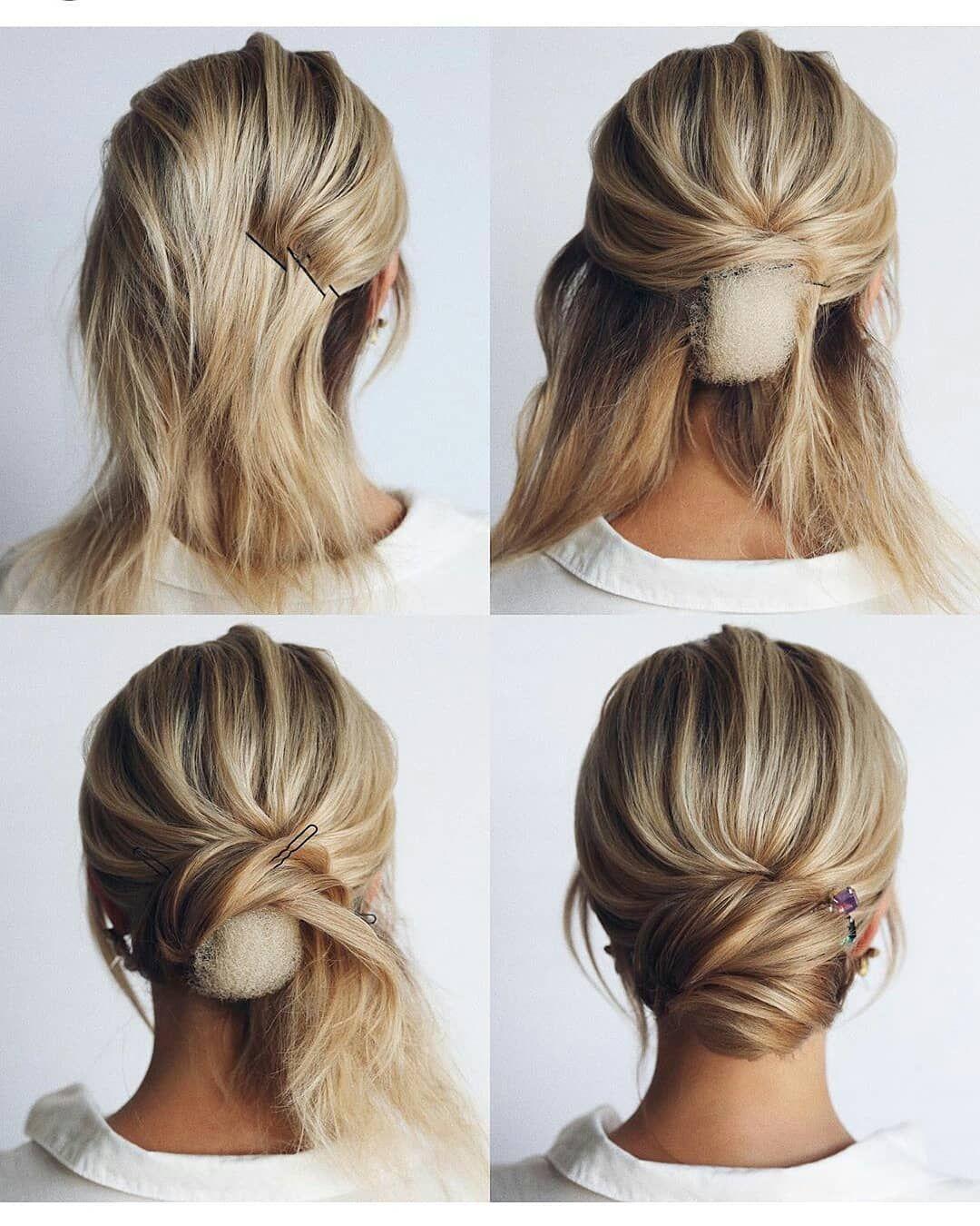 Pin By Katerina Maskova On Hair In 2020 Short Hair Updo Bridal Hair Updo Short Hair Styles