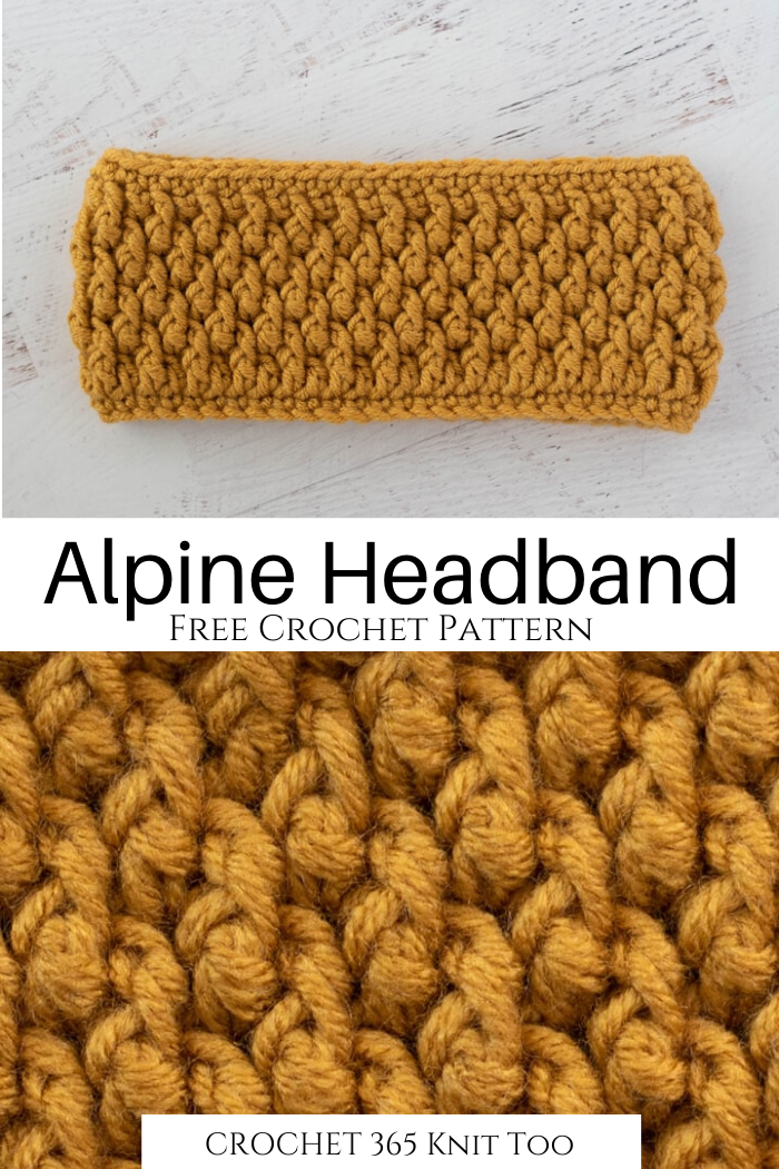 Alpine Crochet Headband - Crochet 365 Knit Too