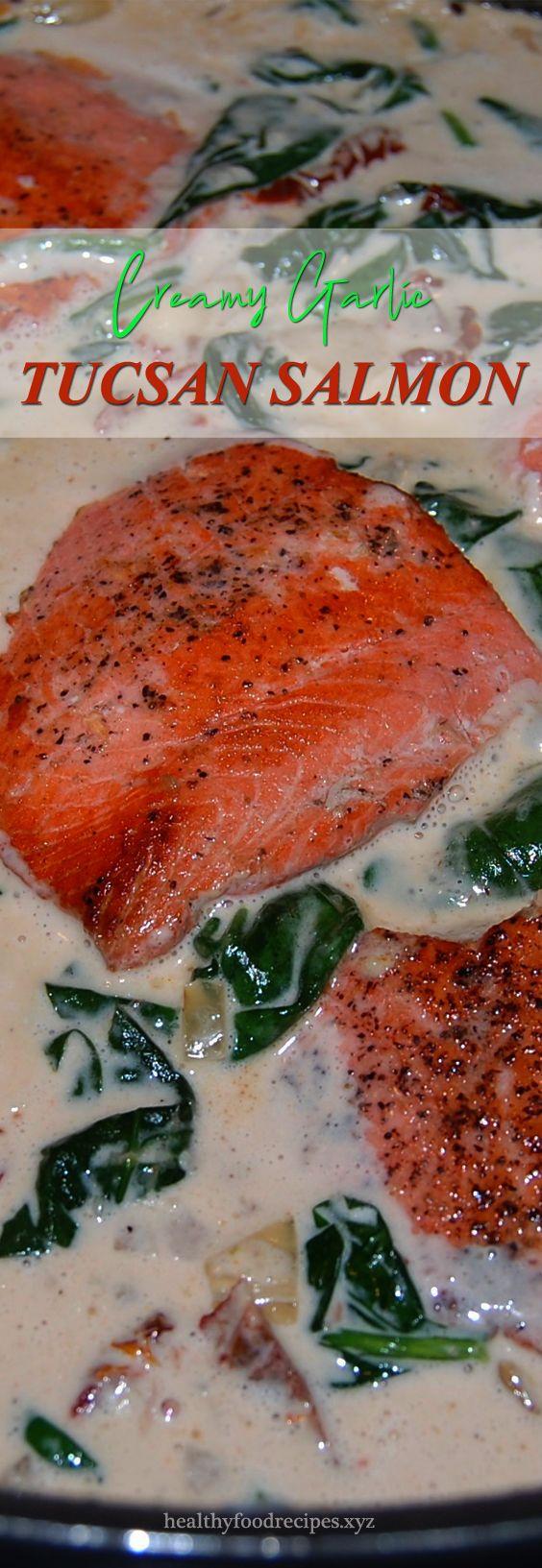 Photo of Easy Creamy Garlic Tuscan Salmon