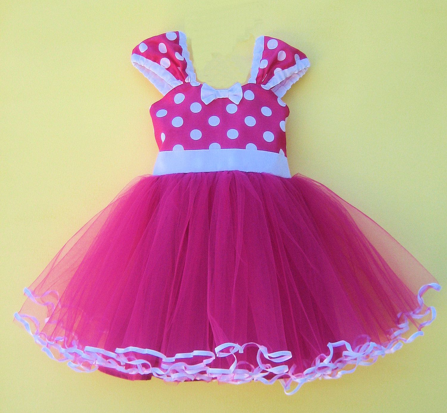 MINNIE MOUSE dress TUTU Party Dress in Hot pink Polka Dots super ...