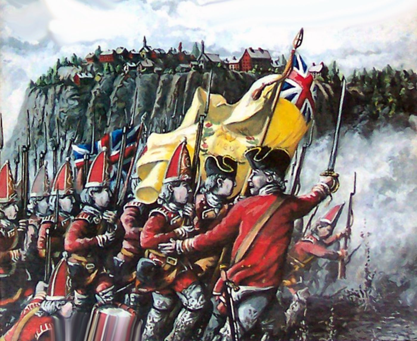 British grenadiers at the Battle of Quebec, Seven Years War