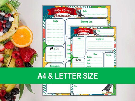 Cockatoucan Daily Planner E Nesbit Daily Agenda Printable Planner