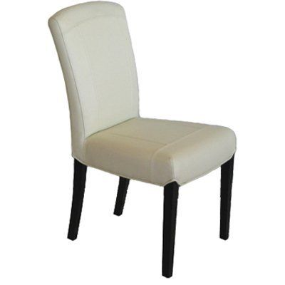 6 Eggshell Carmen Leather Parsons Dining Room Chair Set By Cassona 740 00 100