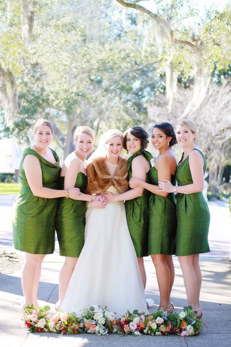 Nature Inspired Pink Peach Green Florida Wedding