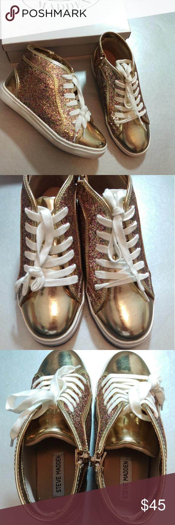 8f902da72e6 🌟New Steve Madden High Tops🌟 ITEM  New Steve Madden Girl s High Top  Sneaker