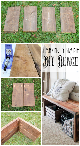 Simple Diy Entry Way Bench The Top Pinned Diy