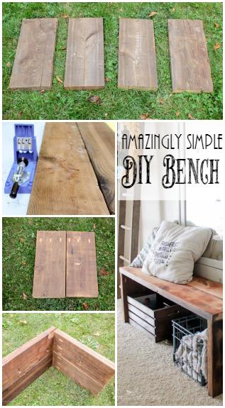Simple Diy Entry Way Bench Diy Bench Home Diy Wood Diy