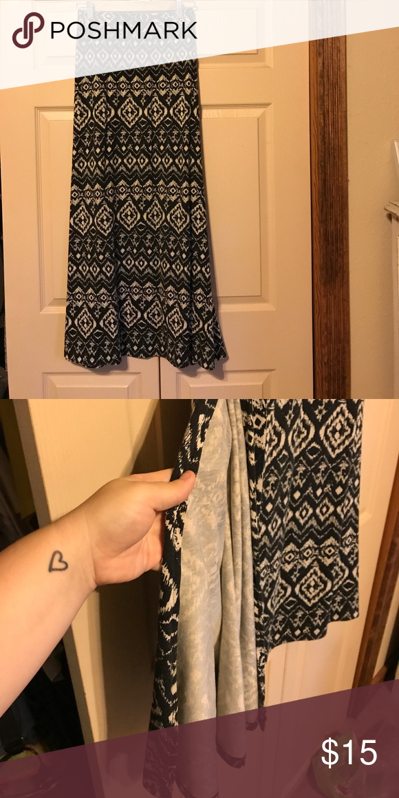 d2550ad0b Maurices Aztec maxi skirt Aztec print, black and white maxi Maurices Skirts  Maxi