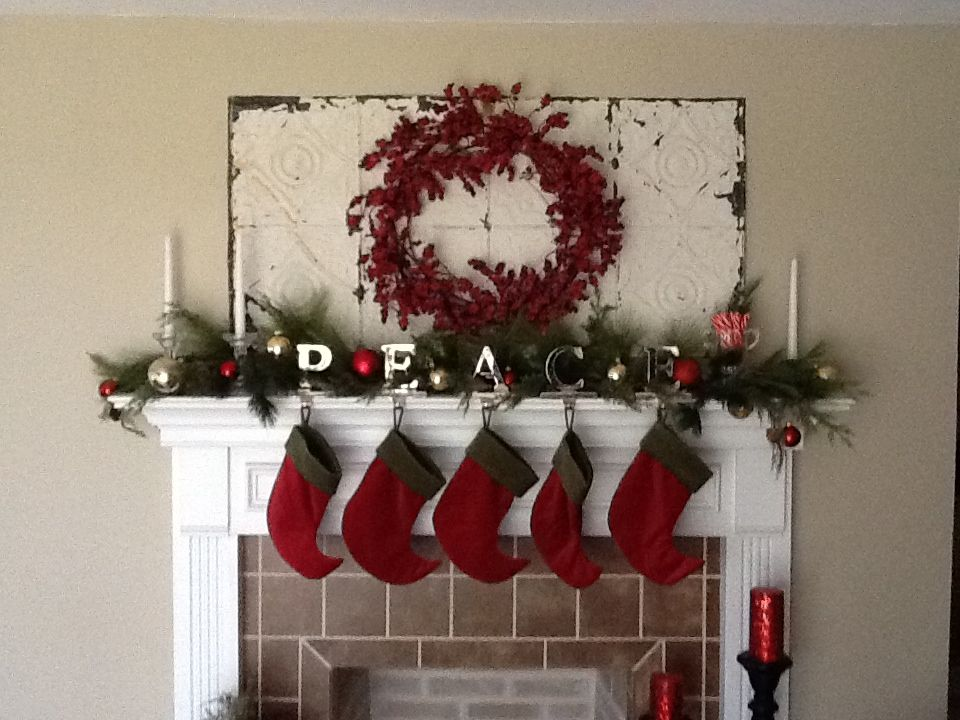 This is the decor for my Christmas mantle for this holiday season! By F.J.F