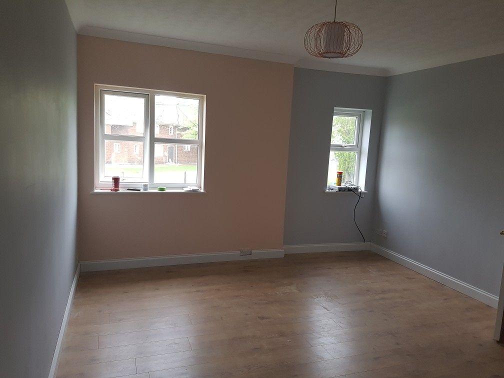 dulux goose down and valspar rose water blush pink grey. Black Bedroom Furniture Sets. Home Design Ideas