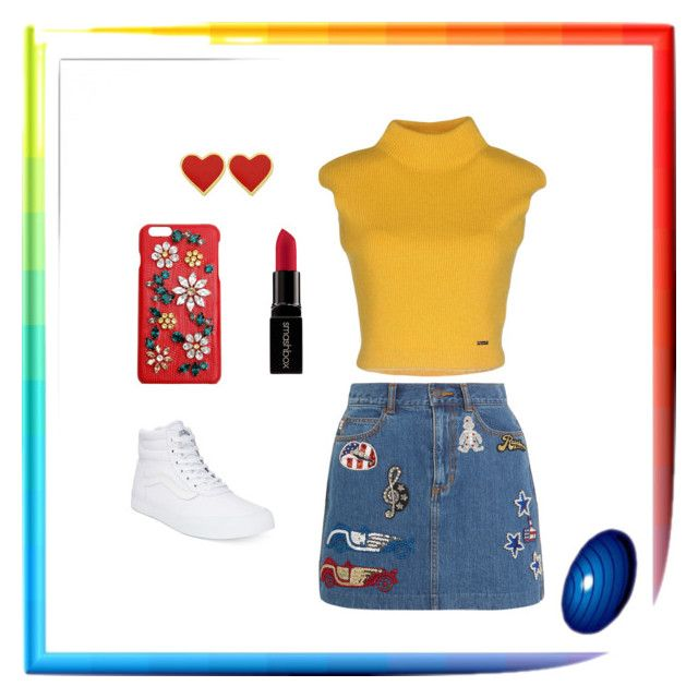 """Keep It Real"" by katrenn on Polyvore featuring Marc Jacobs, Vans, Dsquared2, Smashbox, Dolce&Gabbana, vintage, yellow, red and vans"