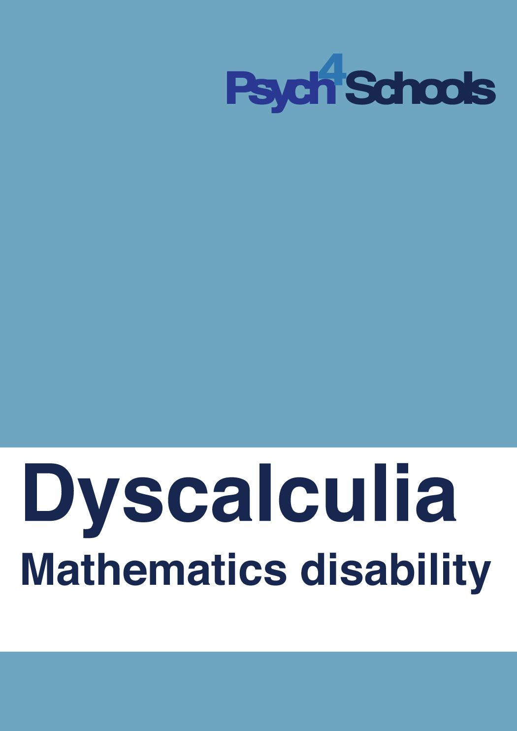 Children with dyscalculia have a poor sense of number. They ...
