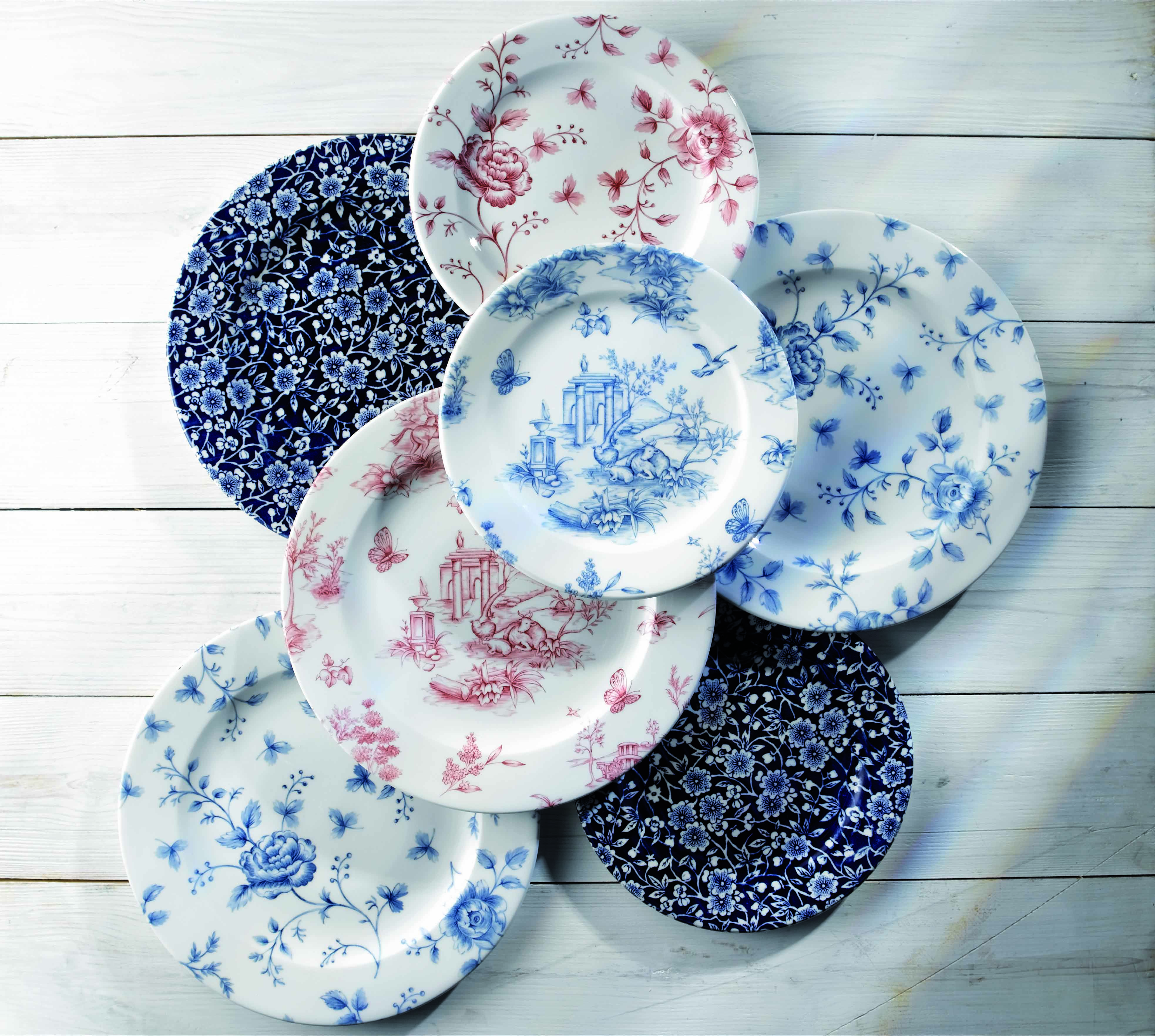 Churchill Plates By Smart Hospitality Flower Patterns And Floral Designs Are What The Calico Vintage Ranges Are All Vintage Prints Plates Vintage Floral Print