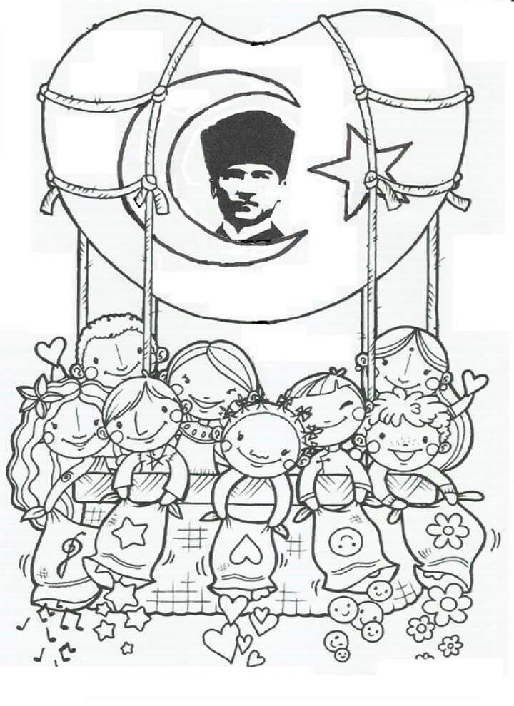 Yasemin Ekinci Adli Kullanicinin Ataturk Panosundaki Pin Boyama Sayfalari Ortaokul Sanati Resim