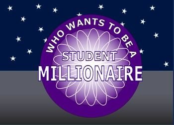 millionaire: who wants to be a student millionaire (template, Powerpoint templates